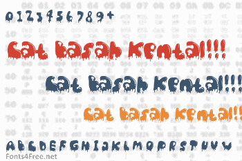 Cat Basah Kental!!! Font