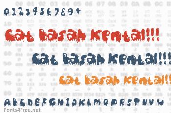 Cat Basah Kental!!! Font