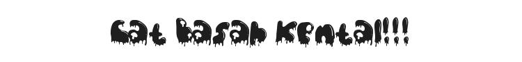 Cat Basah Kental!!! Font Preview