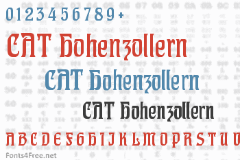 CAT Hohenzollern Font