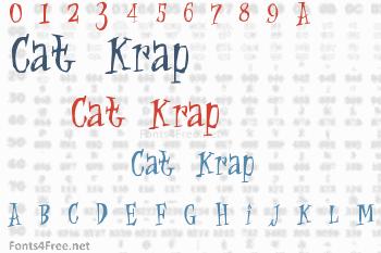 Cat Krap  Font