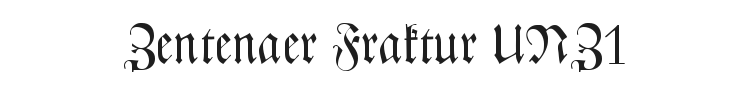 CAT Zentenaer Fraktur UNZ1 Font Preview