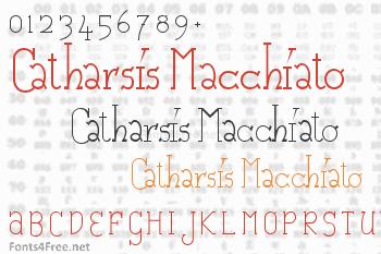 Catharsis Macchiato Font