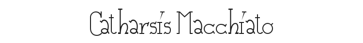 Catharsis Macchiato Font Preview
