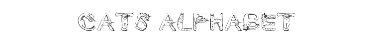 Cats Alphabet Font
