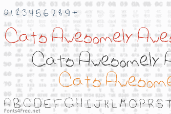 Cats Awesomely Awesome Font
