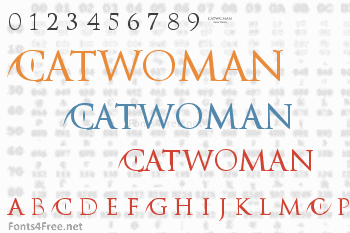 Catwoman Font