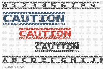 Caution Font