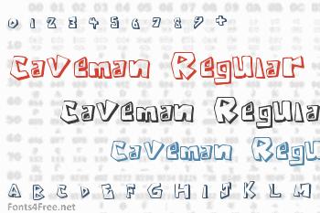 Caveman Regular Font