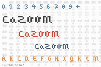 CaZOOM Font