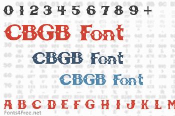 CBGB Font