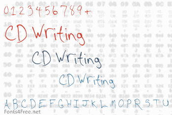 CD Writing Font