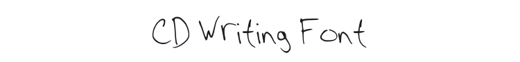 CD Writing Font Preview