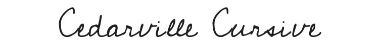 Cedarville Cursive Font Preview