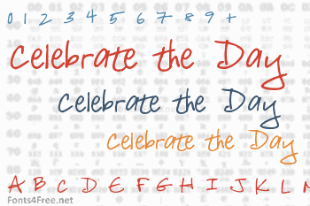 Celebrate the Day Font