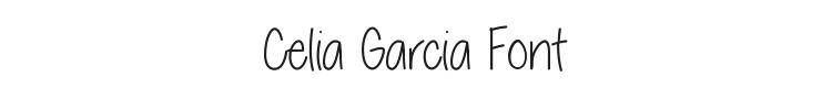 Celia Garcia Font Preview