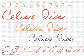 Celine Dion Handwriting Font