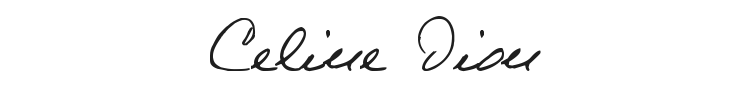 Celine Dion Handwriting Font Preview
