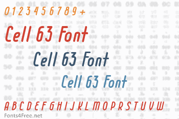 Cell 63 Font