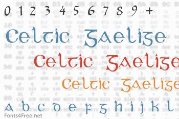 Celtic Gaelige Font