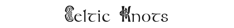 Celtic Knots Font Preview