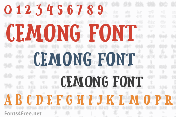 Cemong Font
