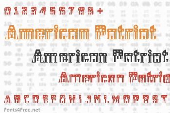 CFB1 American Patriot Font