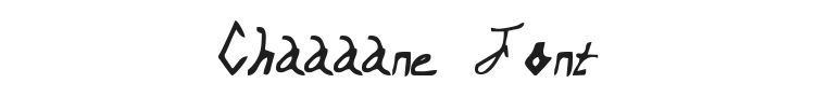 Chaaaane Font Preview