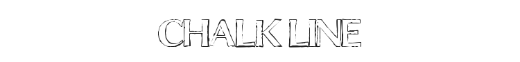 Chalk Line Font Preview
