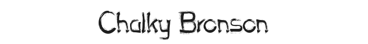Chalky Bronson Font Preview