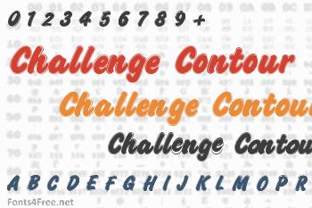 Challenge Contour Font