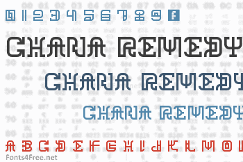 Chana Remedy Font