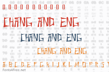 Chang and Eng Font