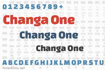 Changa One Font