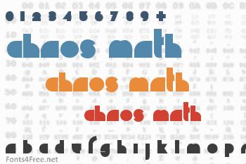 Chaos Math Font