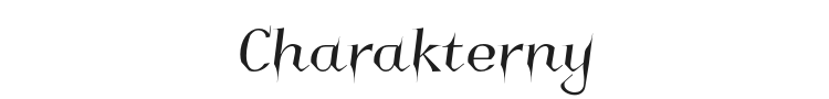 Charakterny Font Preview
