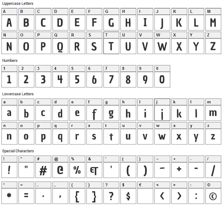 Chau Philomene One Font Character Map