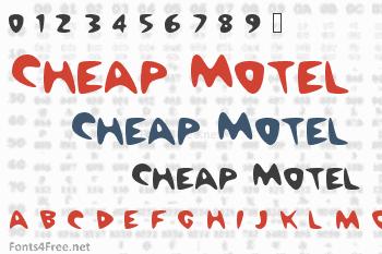 Cheap Motel Font