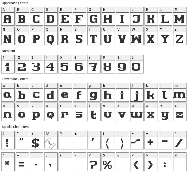 Cherif Font Character Map