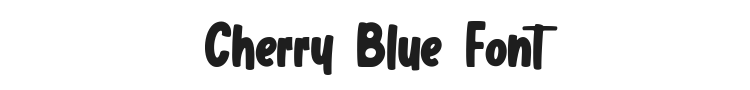 Cherry Blue Font Preview