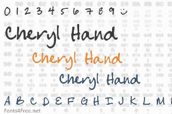 Cheryl Hand Font