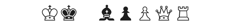 Chess Alpha Font Preview