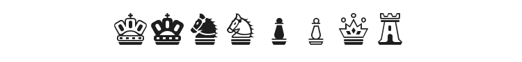 Chess Magnetic Font Preview