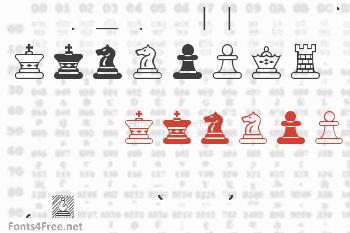 Chess Maya Font