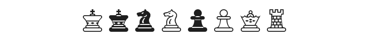 Chess Maya Font Preview