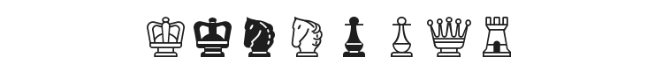 Chess Mediaeval Font Preview