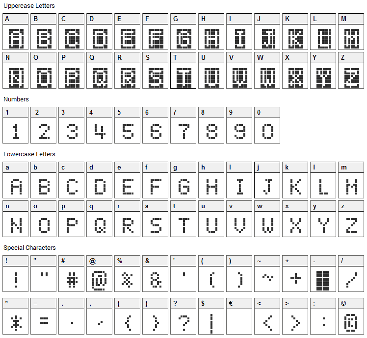ChessType Font Character Map