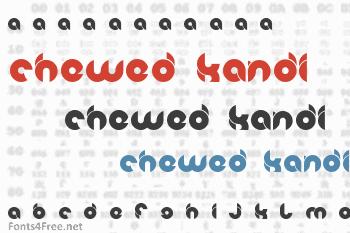 Chewed Kandi Font