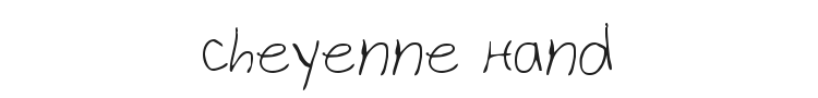 Cheyenne Hand Font Preview