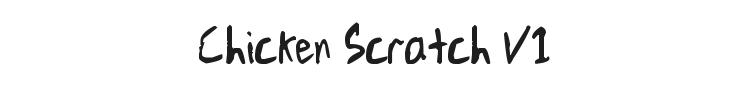 Chicken Scratch V1 Font Preview